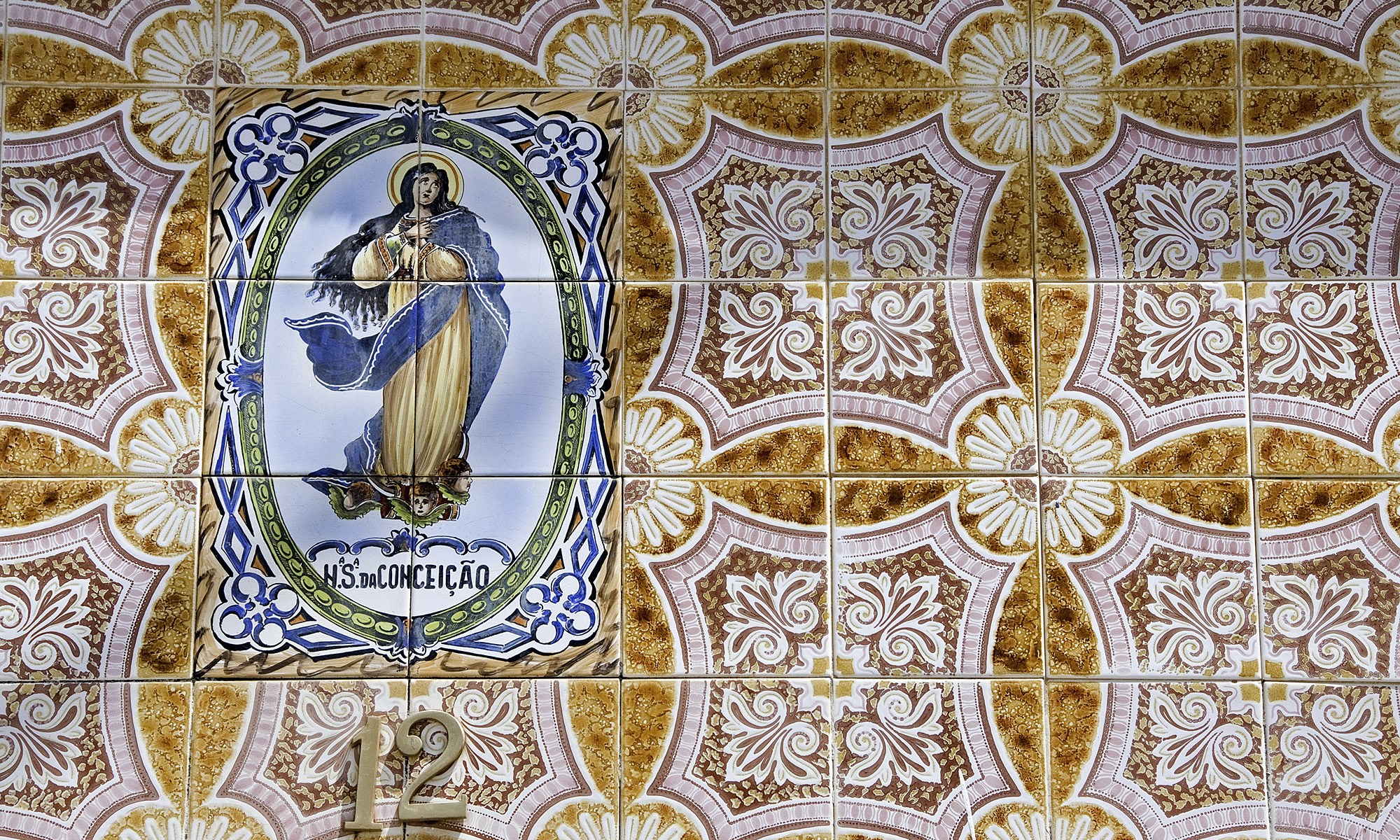 Virgin Mary on Portuguese Tiles