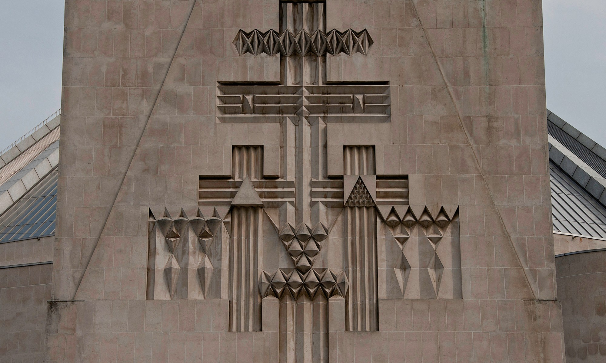 Relief Sculpture at Liverpool Met Cathedral