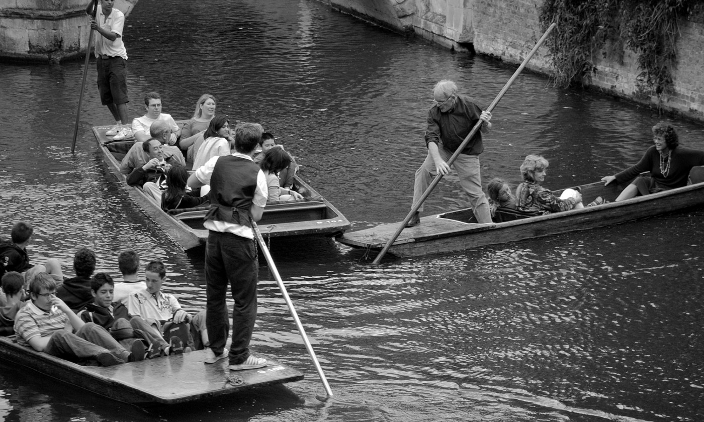 Punting Problems on River Cam, Cambridge