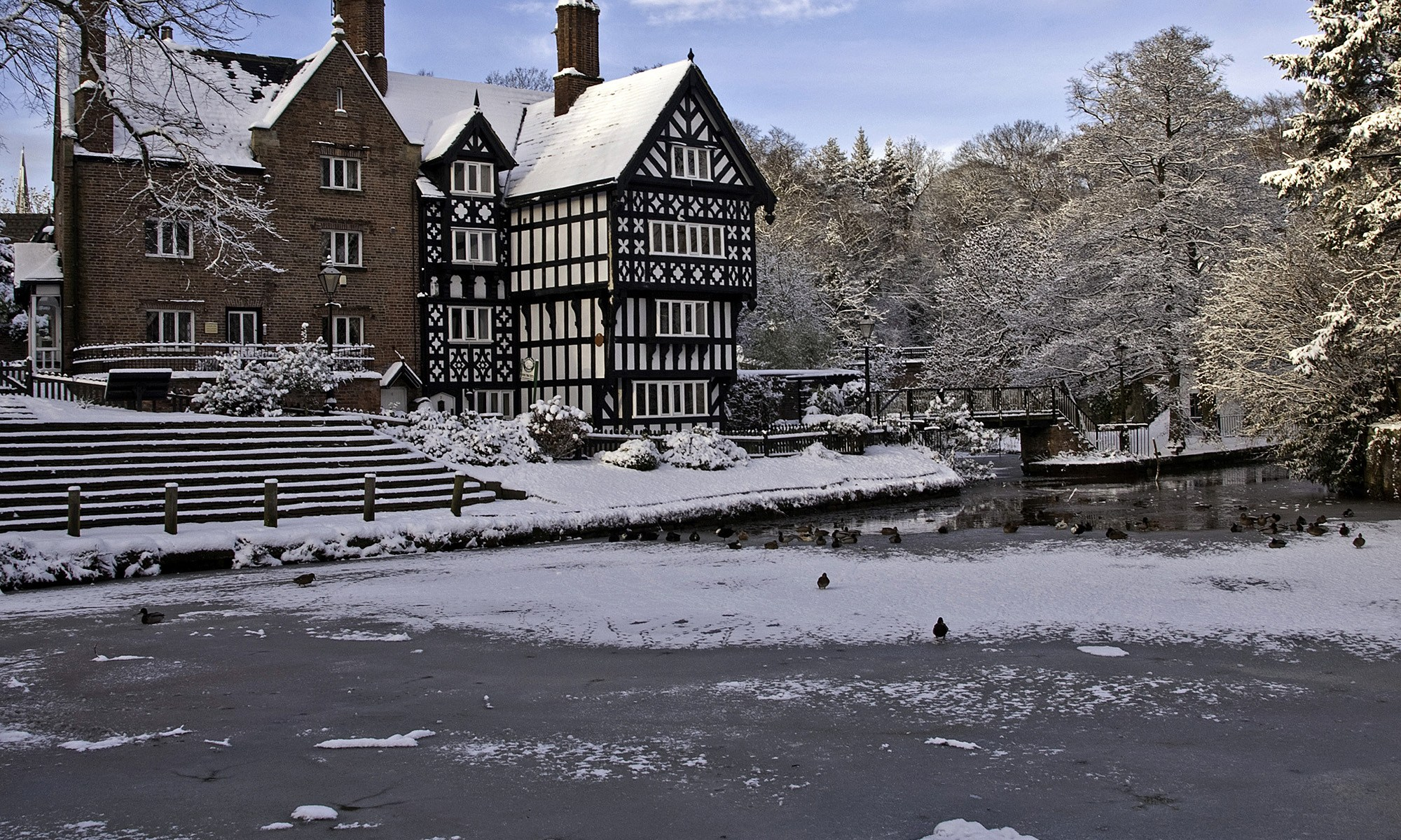 The Packet House at Worsley in Snow