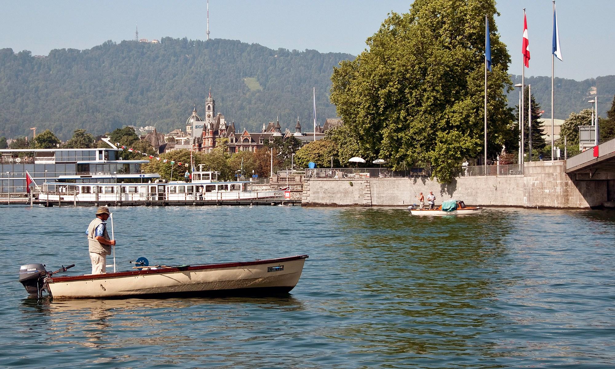 Fisherman on Lake Zurich