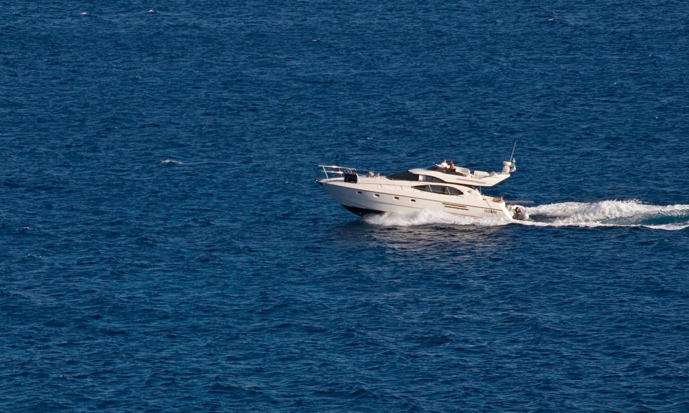 Motor Yacht on the Mediterranean