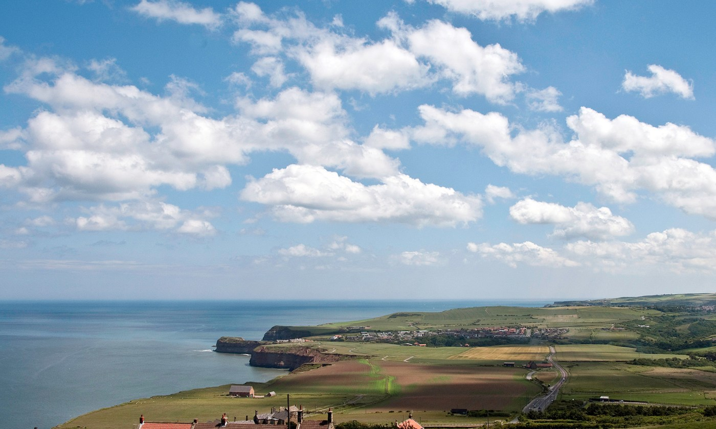 Coastal landscape over North Yorkshire Moors