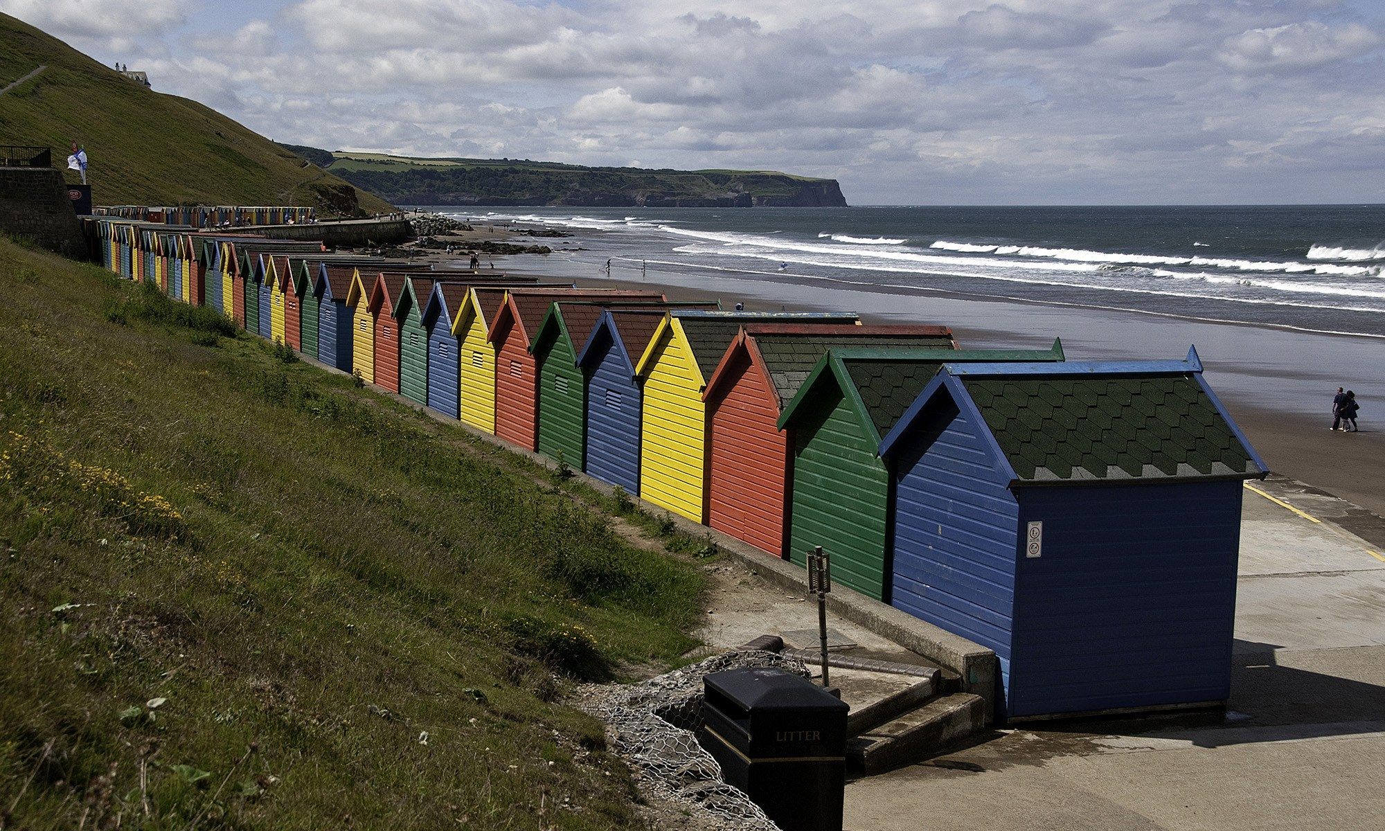 Colourful Beach Huts at Whitby