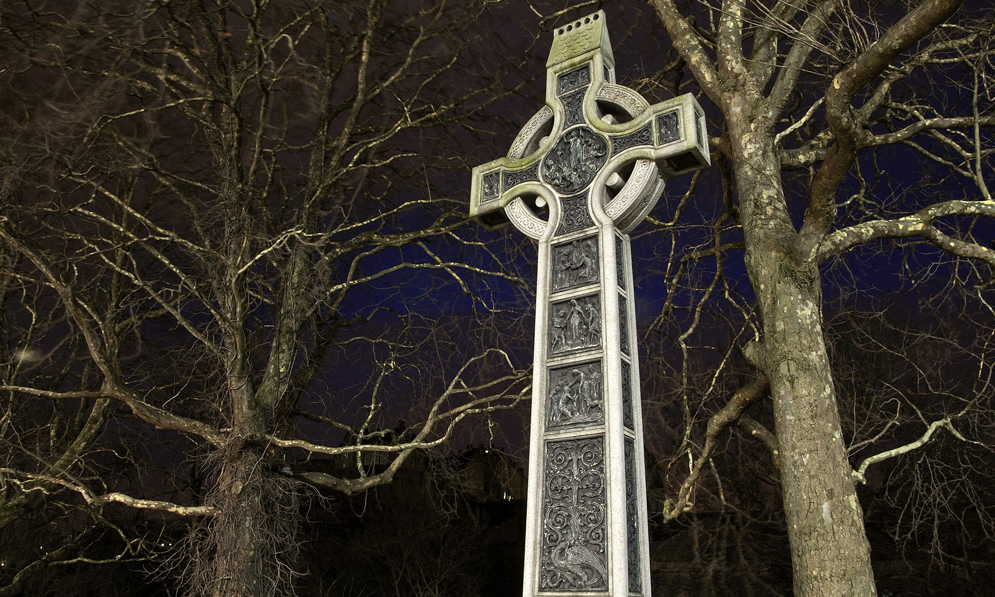Celtic Cross at Night