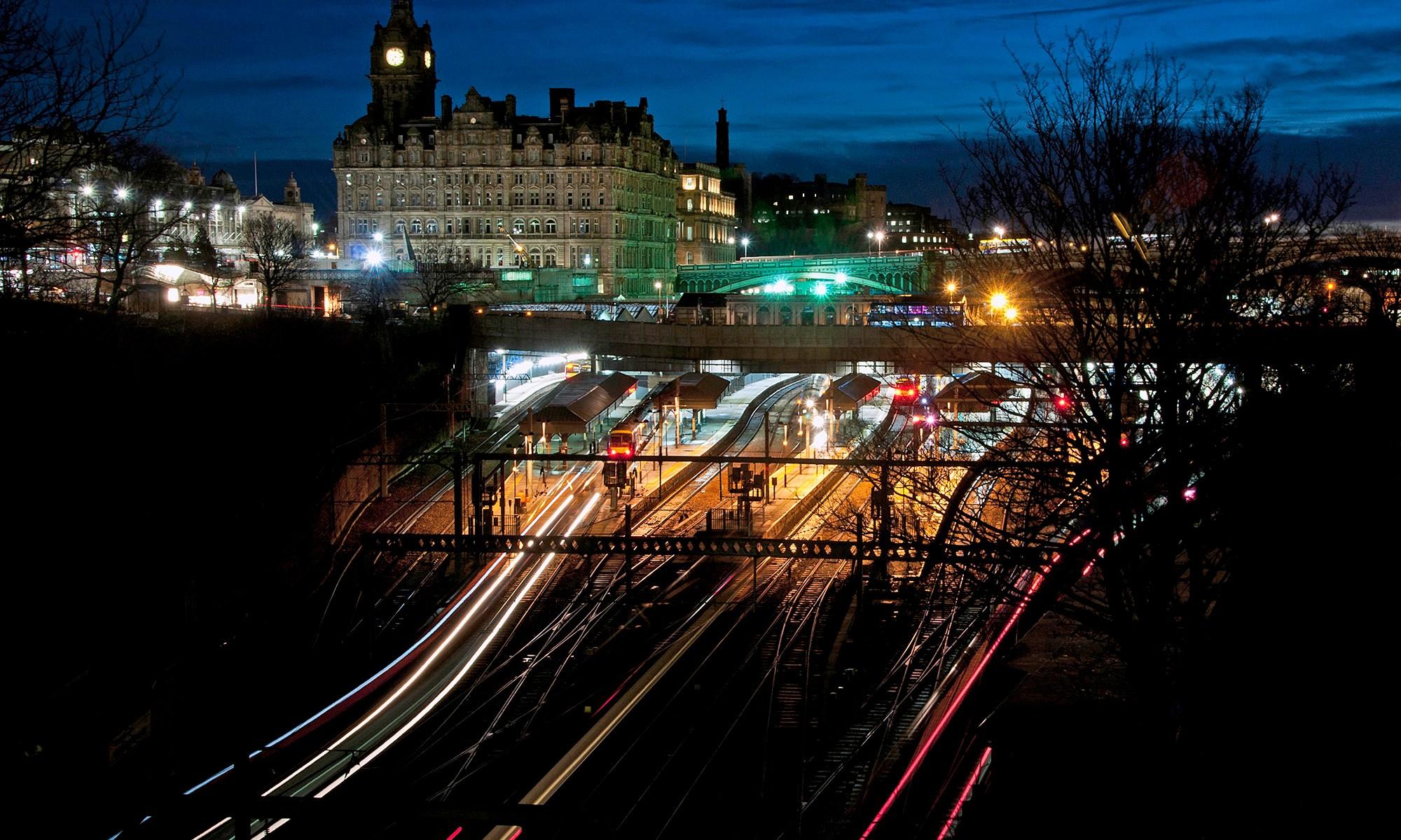 Edinburgh Waverley Station at Night