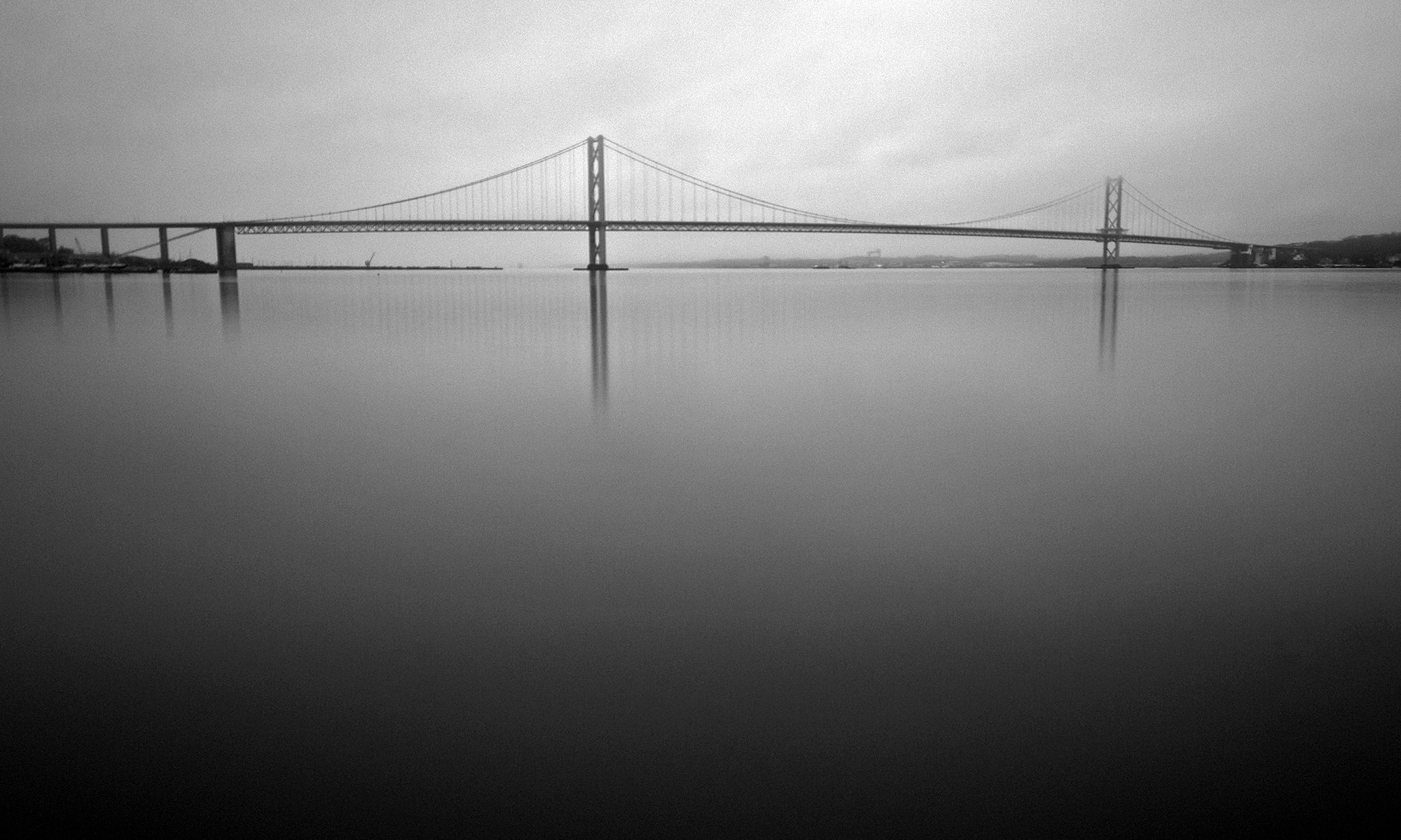 Forth Road Bridge Black and White