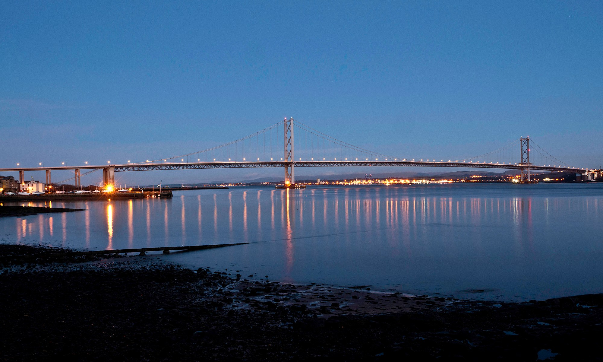 Forth Road Bridge at Dawn