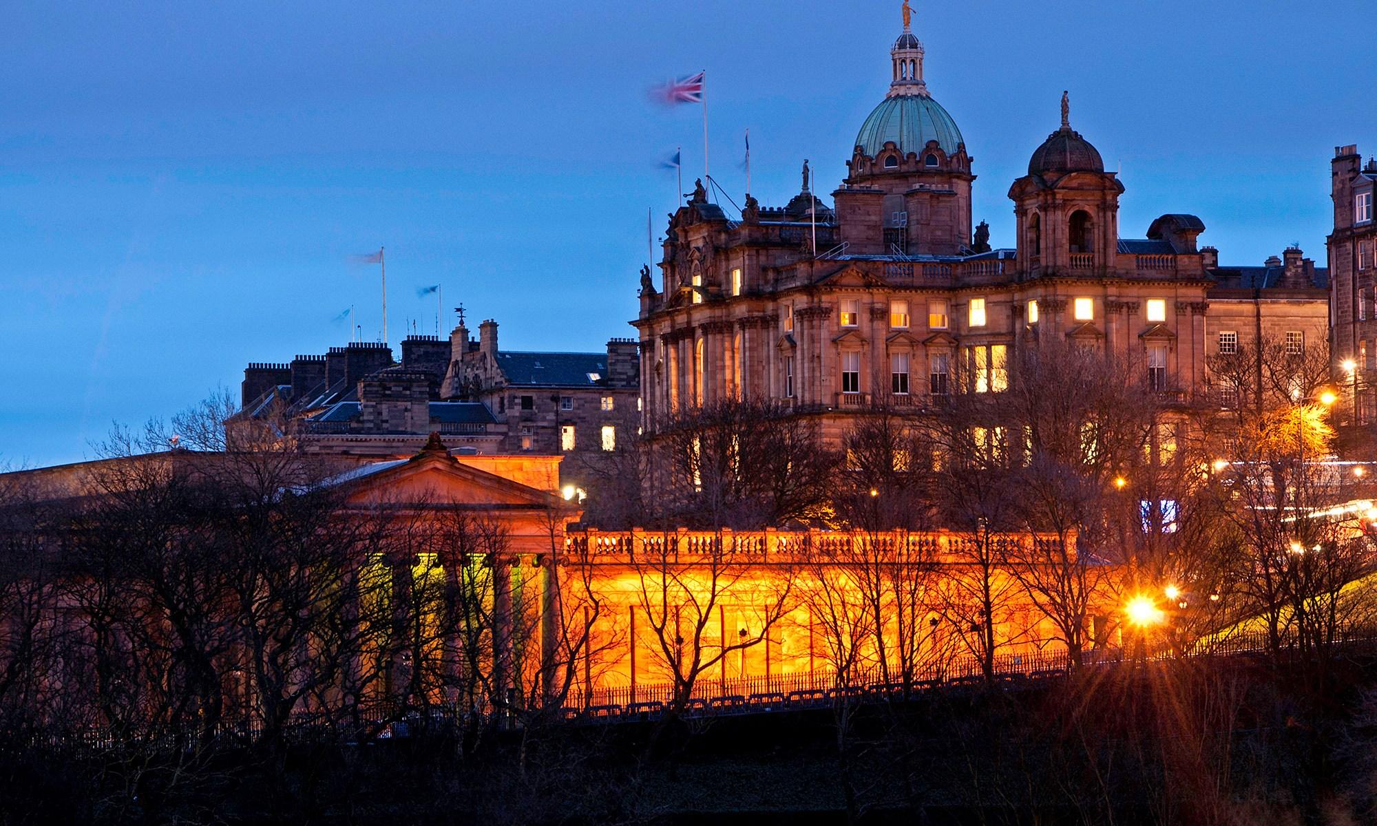 The Scotsman Hotel at Night, Edinburgh