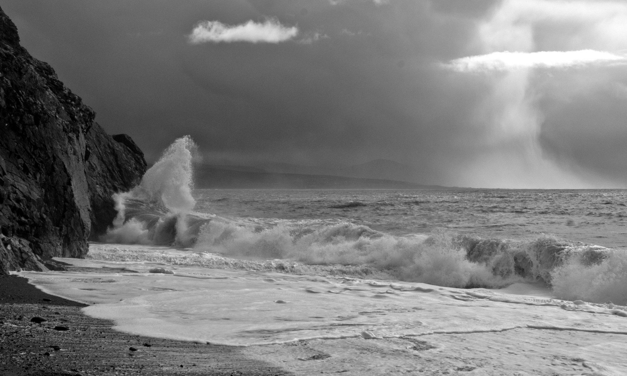 Storm approaching Criccieth Beach