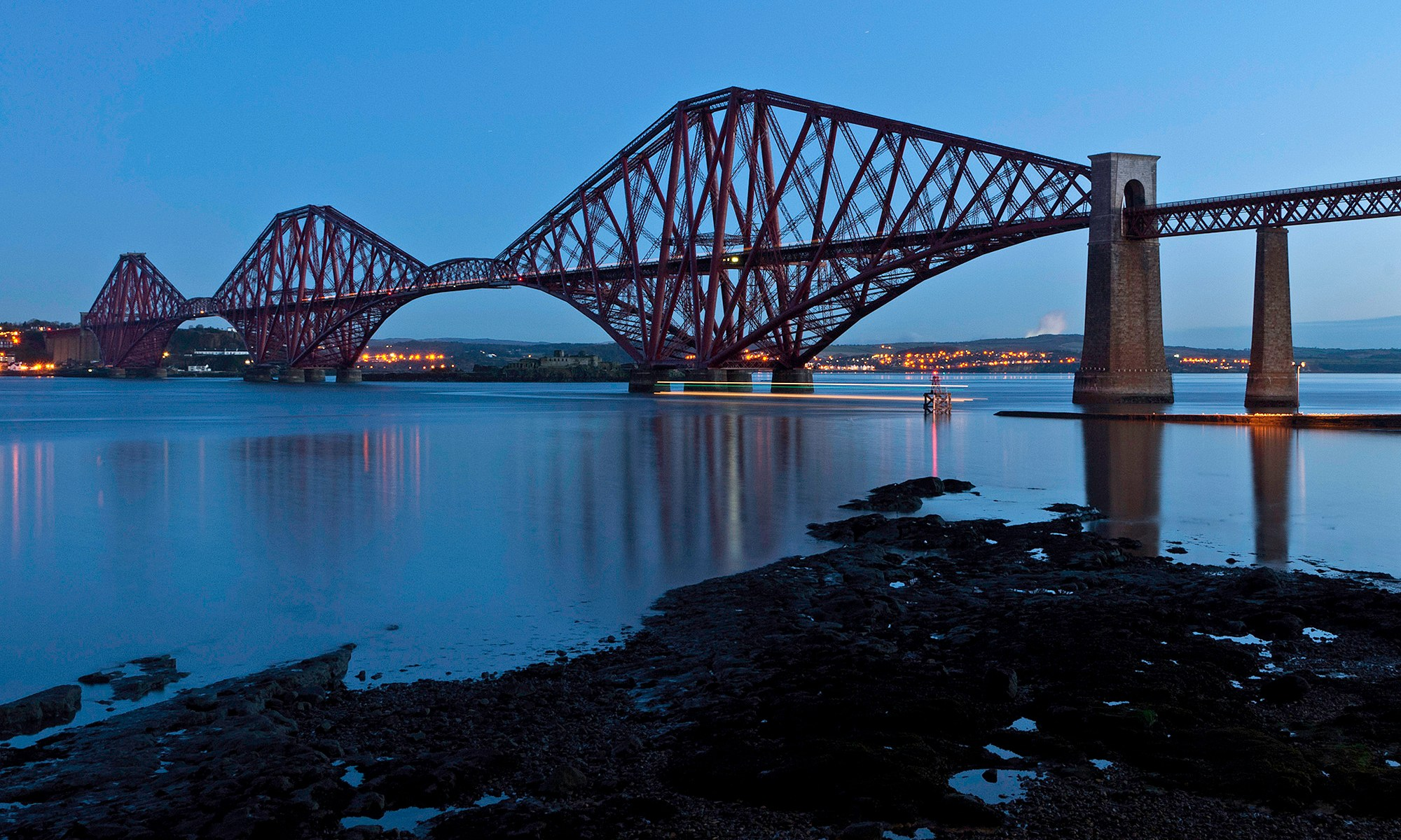 Forth Bridge in Twilight