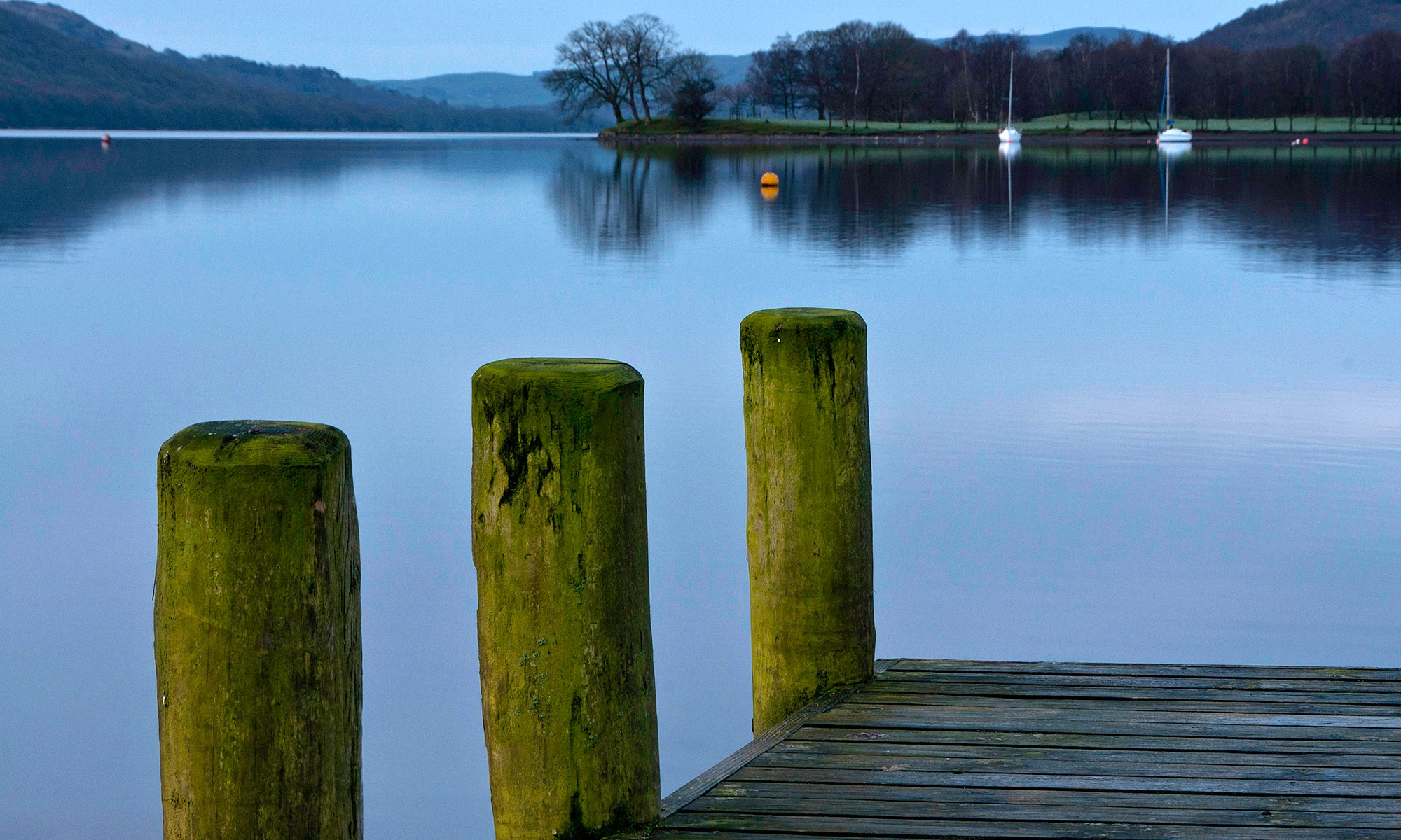 Coniston Pier Detail at Dawn