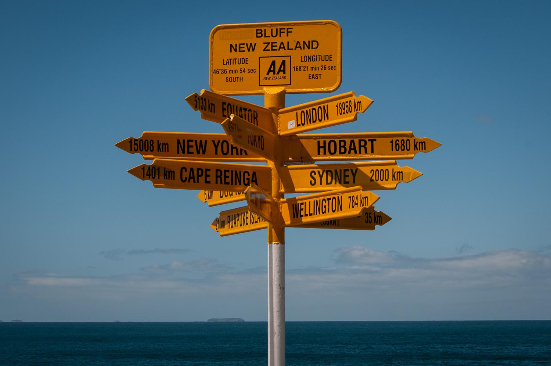 Bluff Sign Post