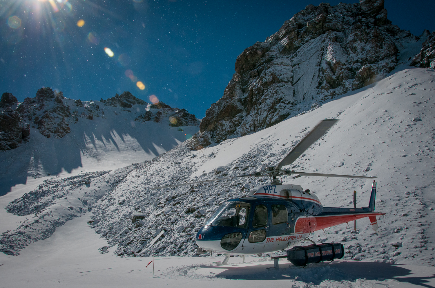 Helicopter on the Snow