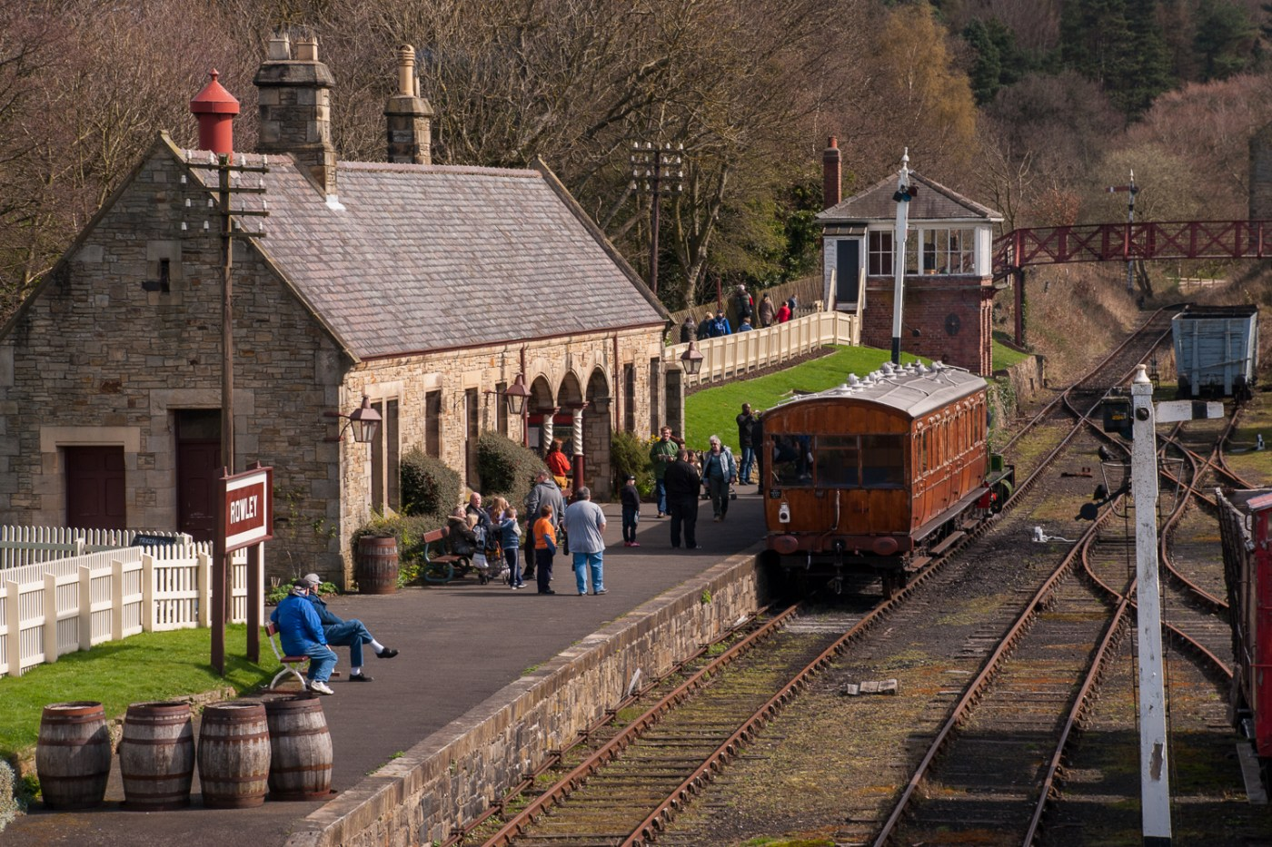 English village train station