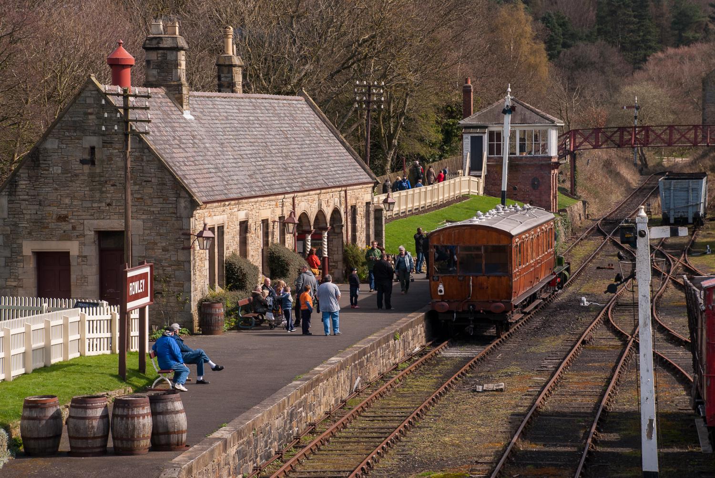 English village train station