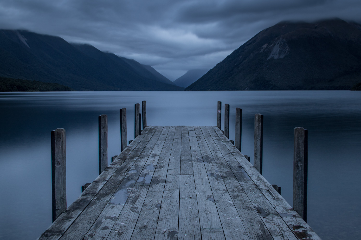 Lake Rotoiti Jetty at night
