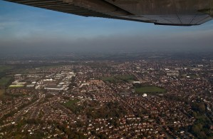 Ariel view over Swinton, Greater Manchester