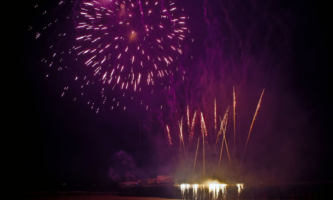 Purple Fireworks at Blackpool Competition