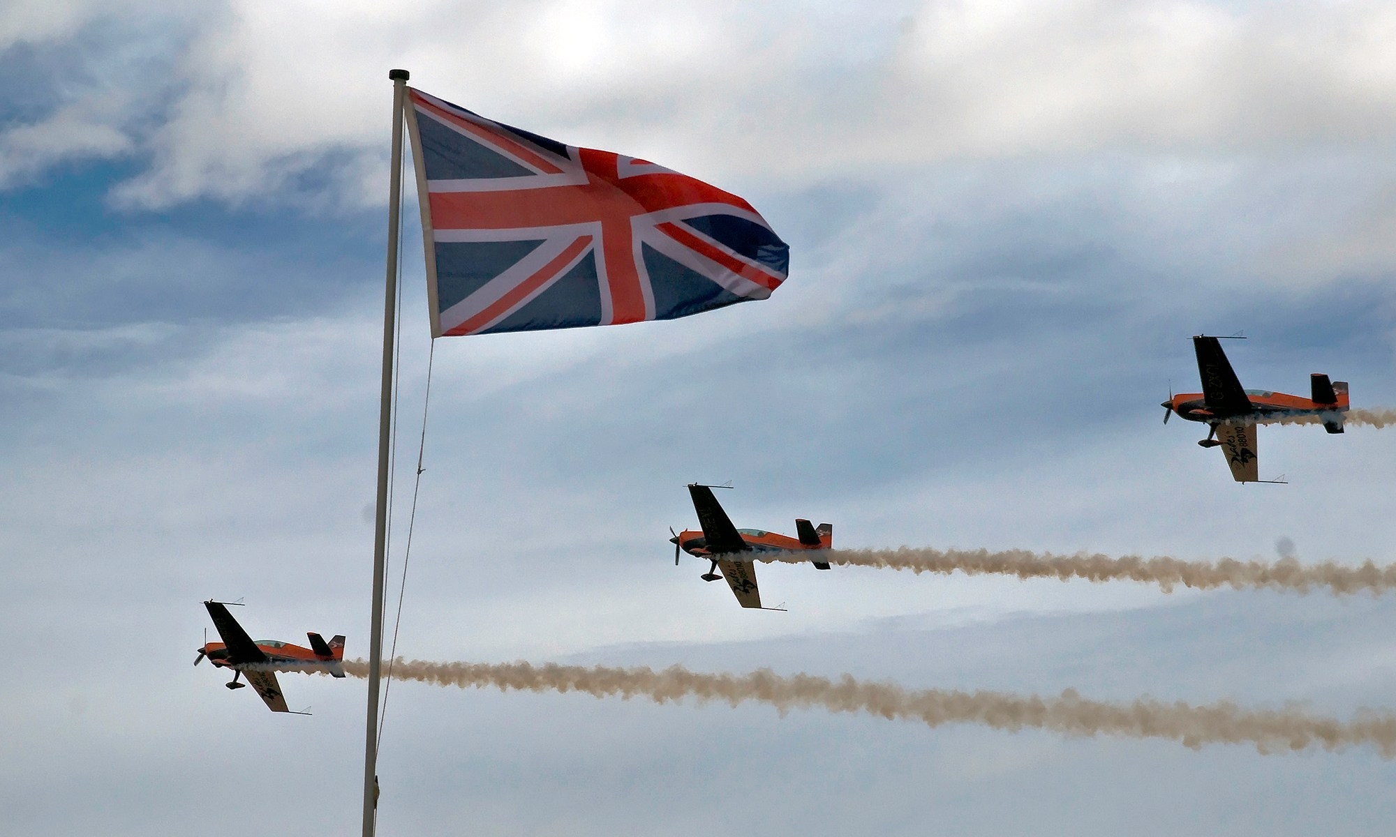 The Blades Aerobatic Team at Southport Airshow