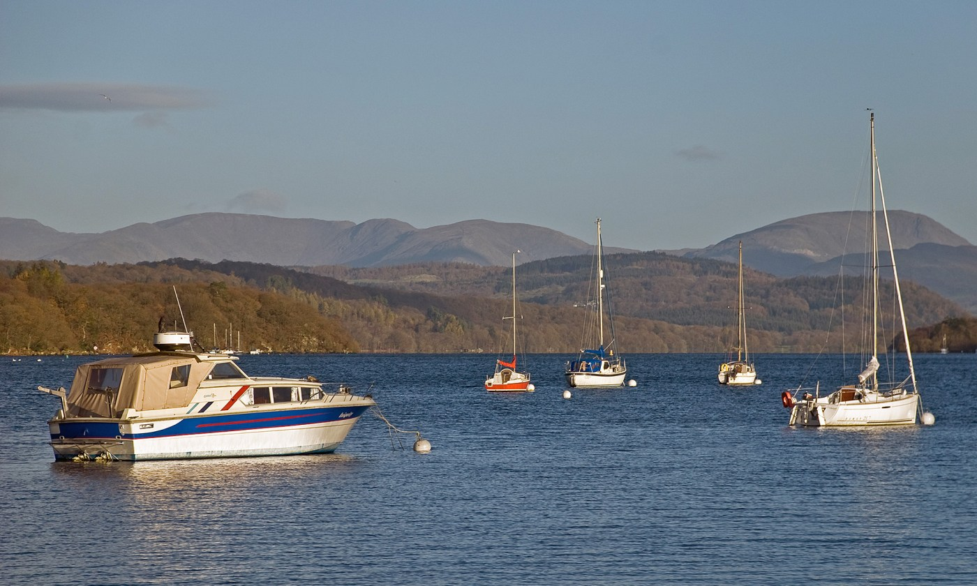 Boats on Windermere, Lake District