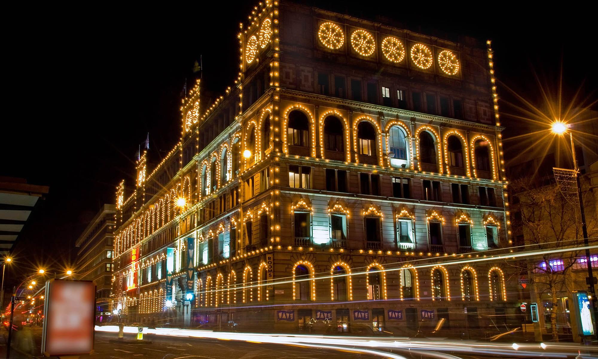 Britannia Hotel, Manchester at Night