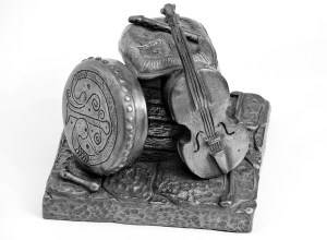 Study of Bronze Instruments Statue