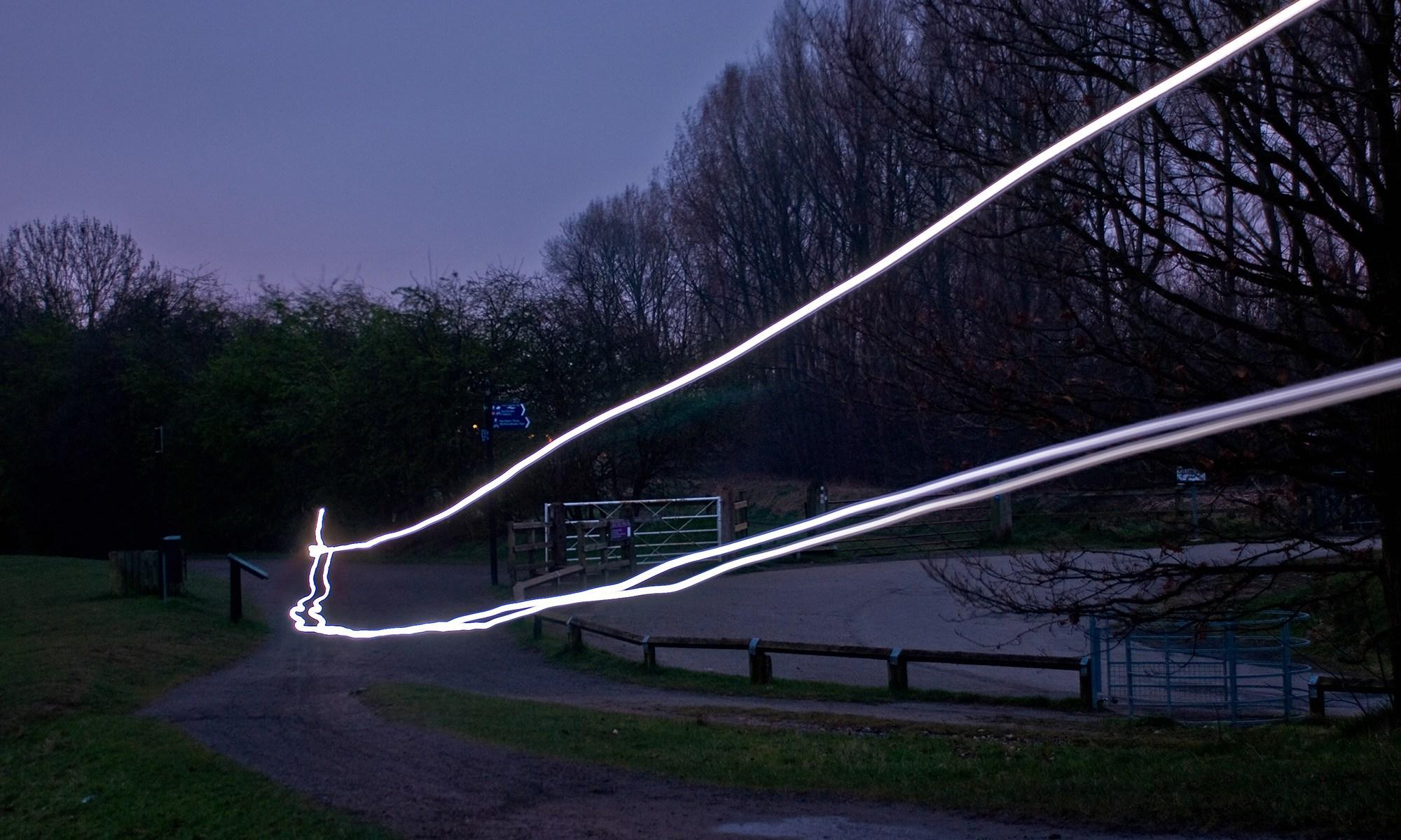 Night Cycling at Chorlton Water Park