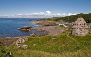 Village of Dunure on the West Coast of Scotland