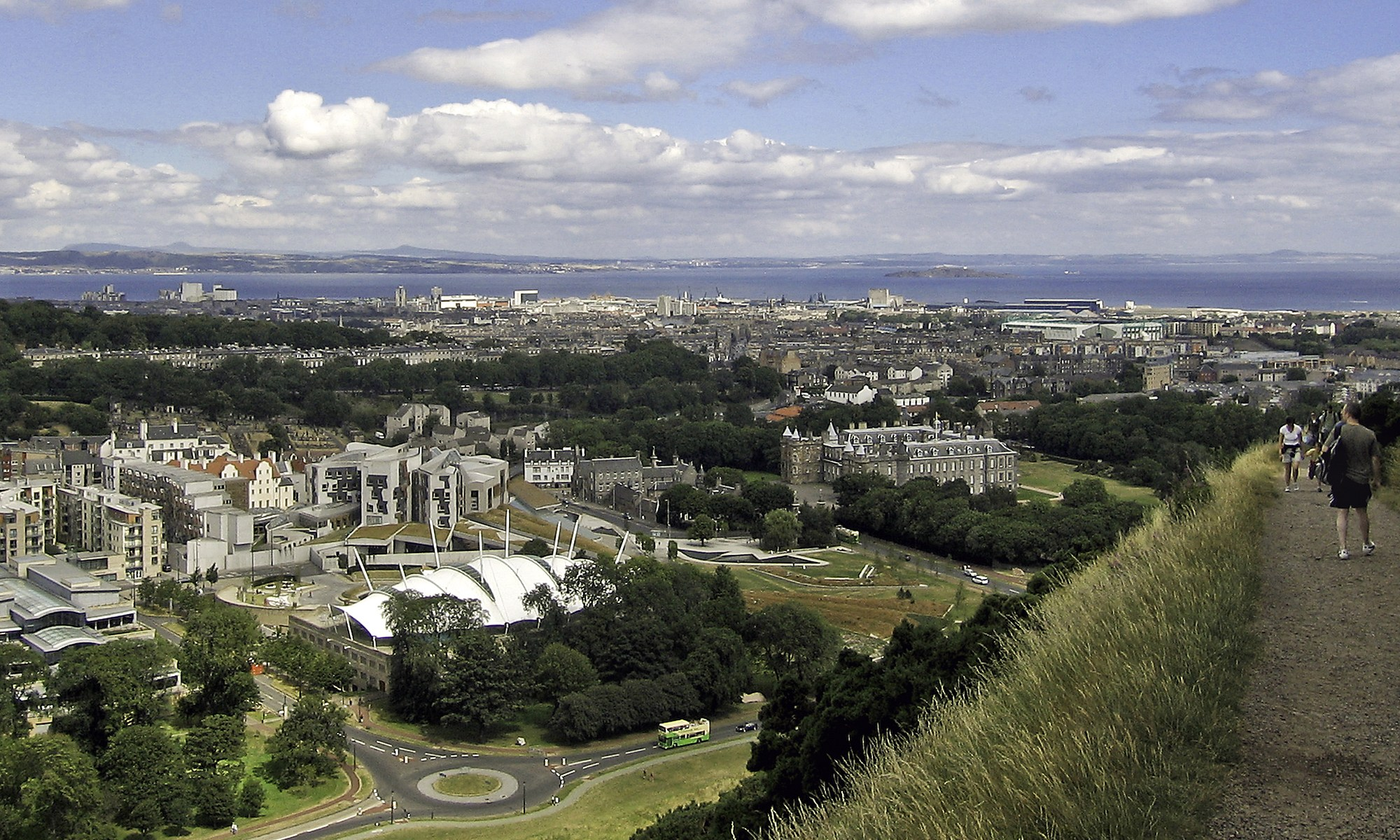 View over Edinburgh from Salisbury Crags