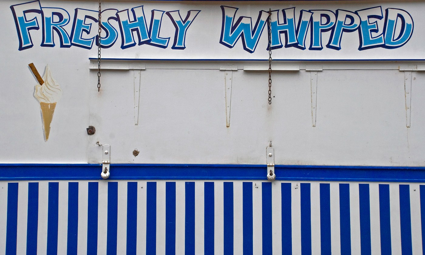 Freshly Whipped Ice-cream Sign