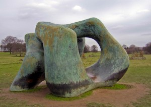 Large Two Forms by Henry Moore
