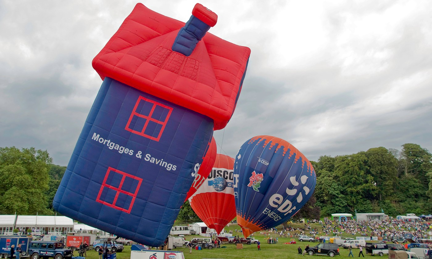 House Shaped Hot Air Balloon at Bristol