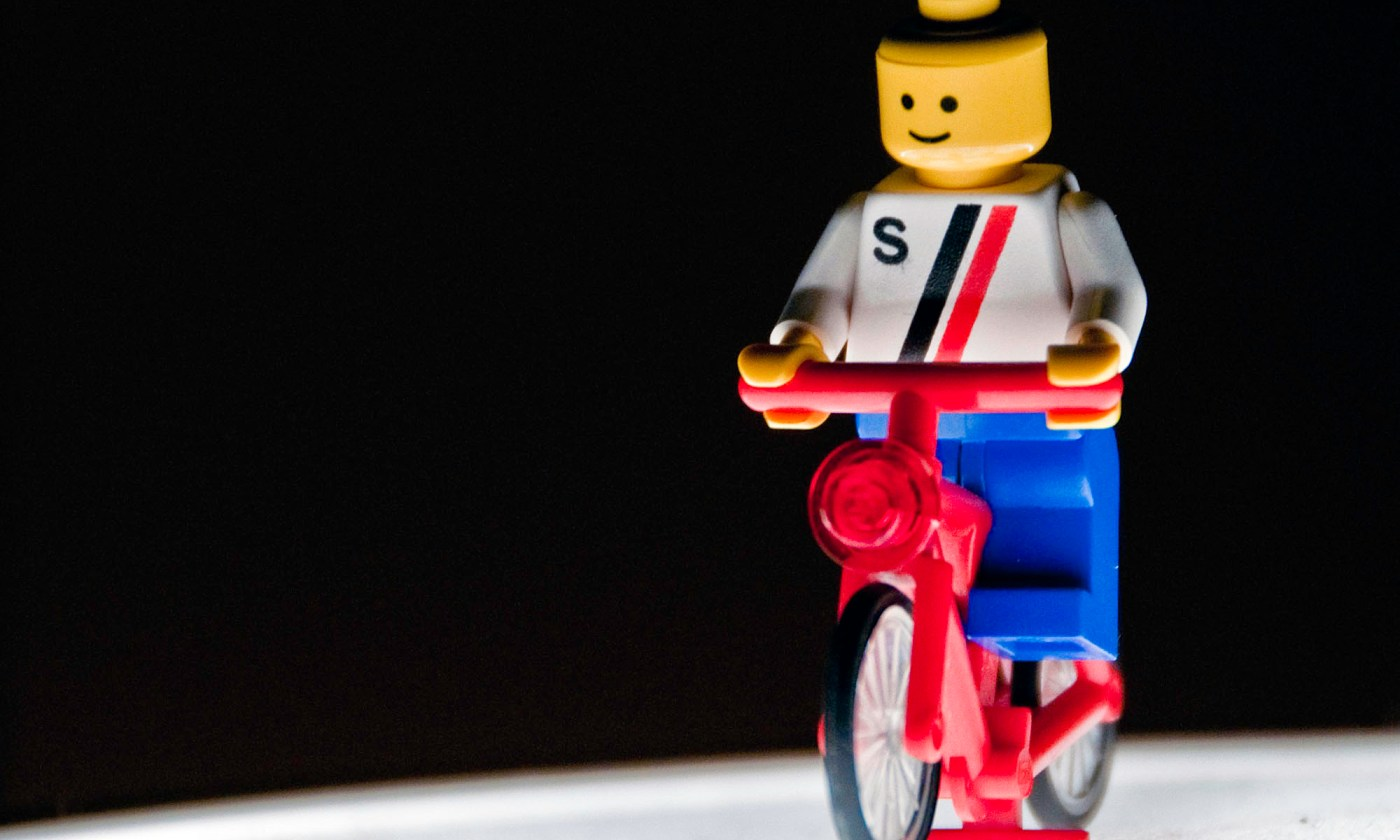 Lego Man on his Bike