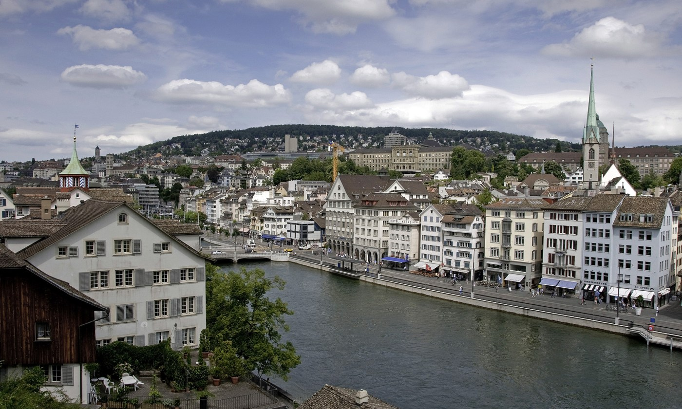 Limmat River and Zurich City Centre