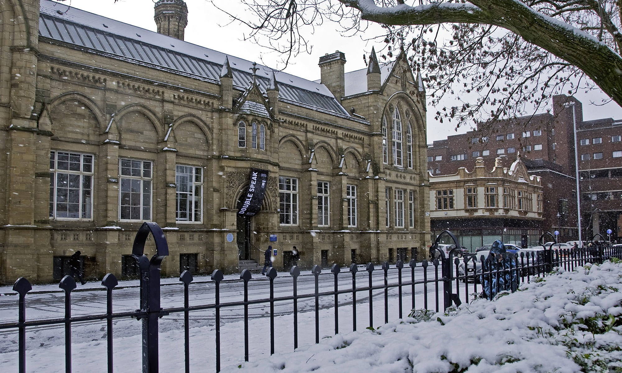 Manchester School of Art in the Snow