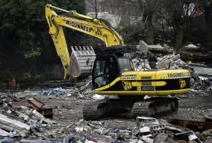 McGuinness JCB at Castlefield Demolition