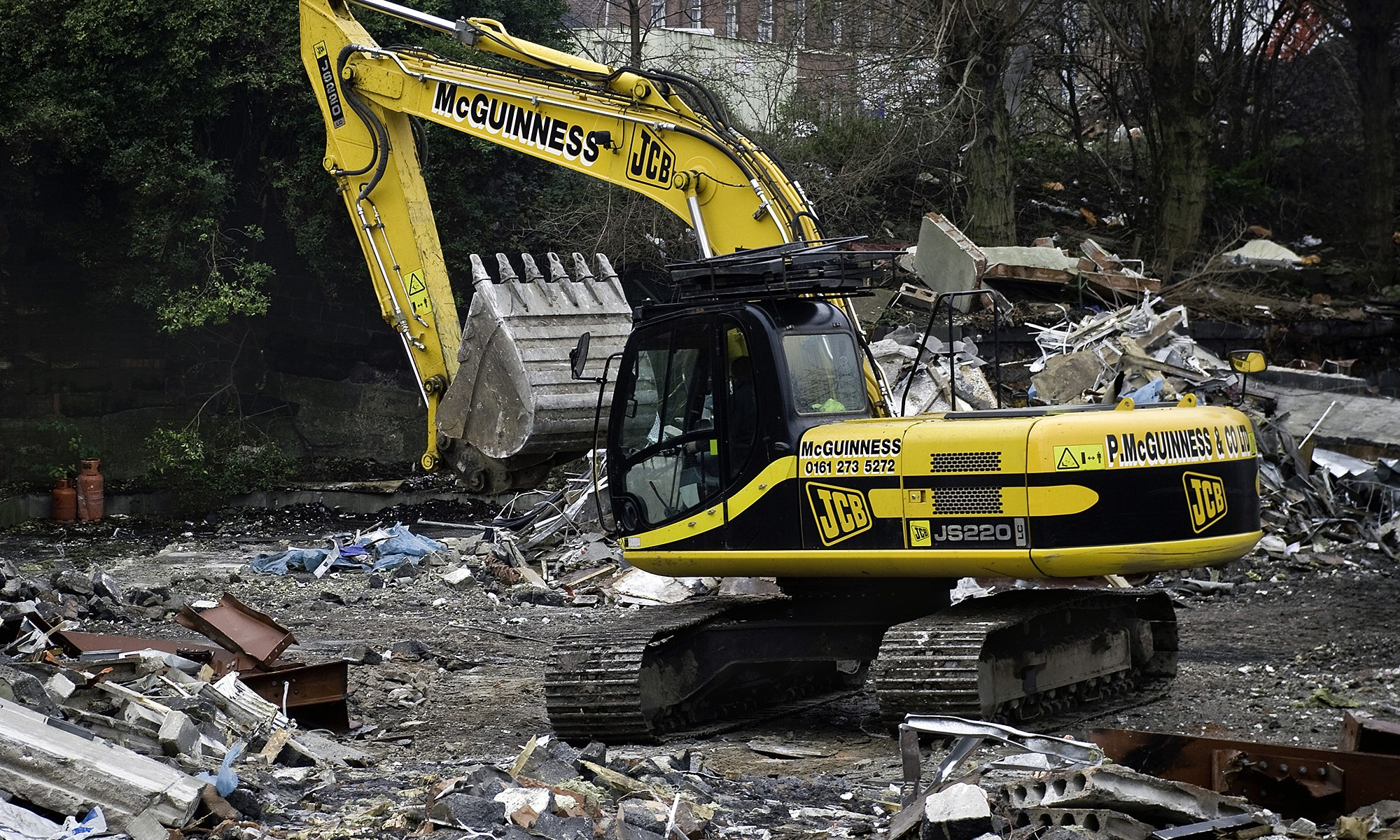 McGuinness JCB at Castlefield Demolition