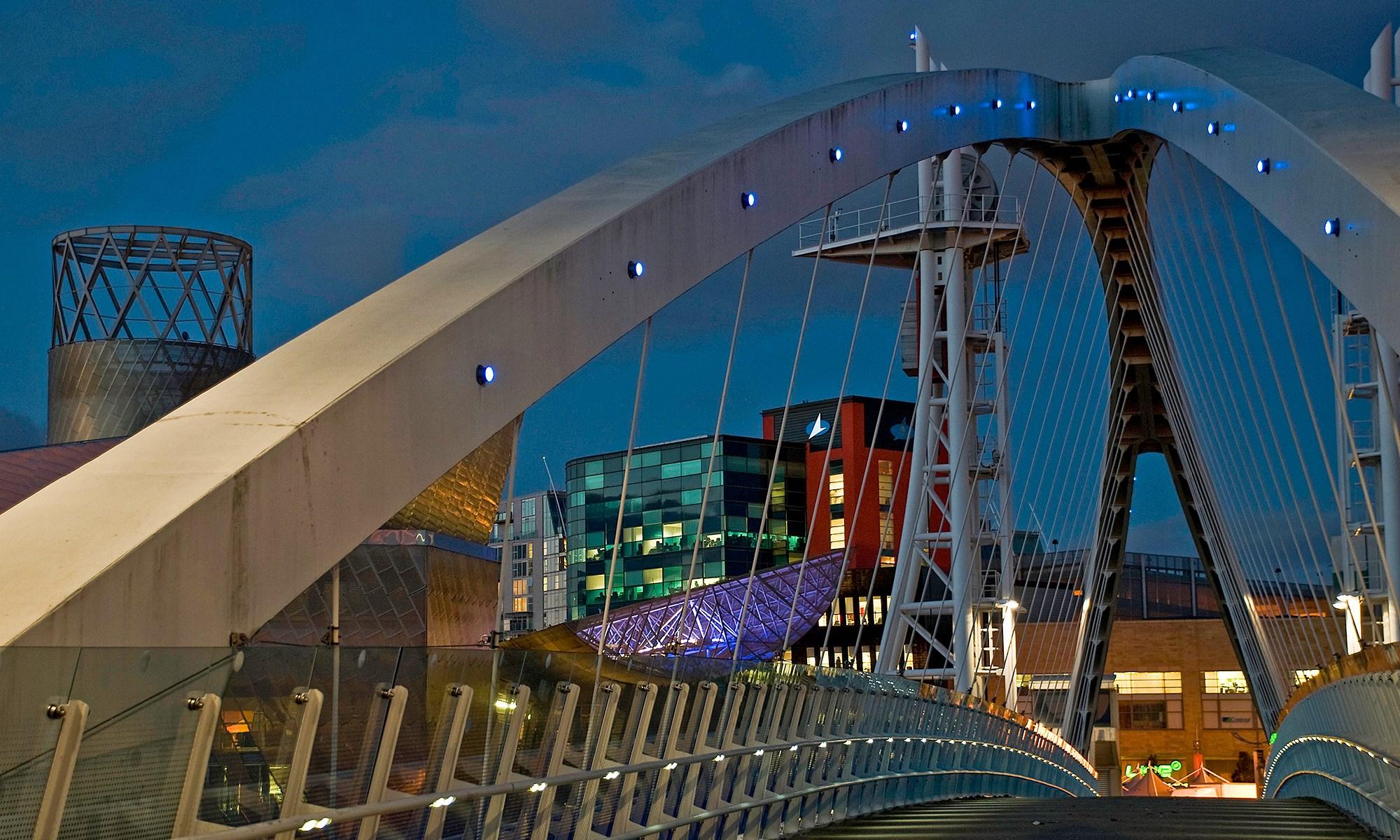 Lowry & Millennium Bridge at Night