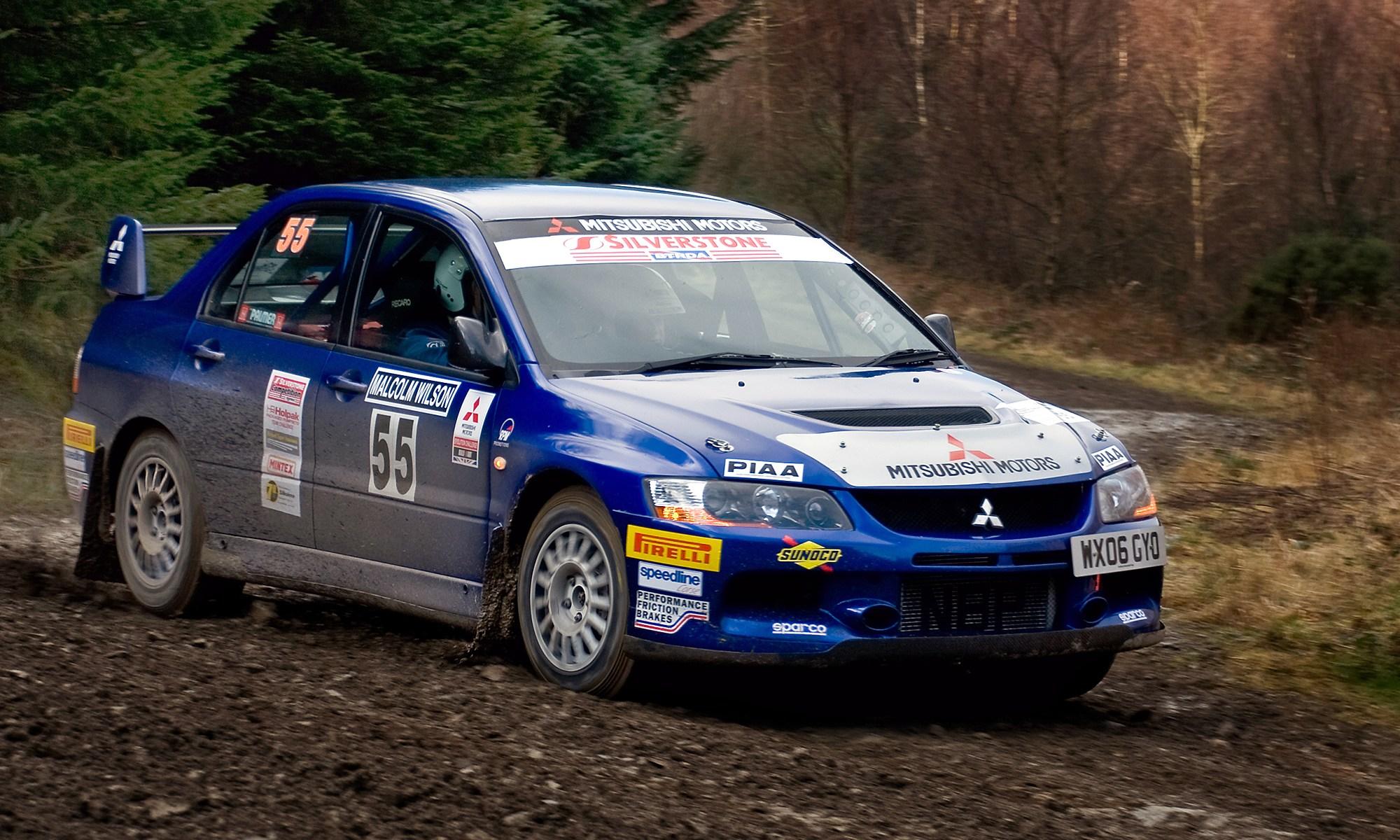Mitsubishi Evolution IX at Malcolm Wilson Rally