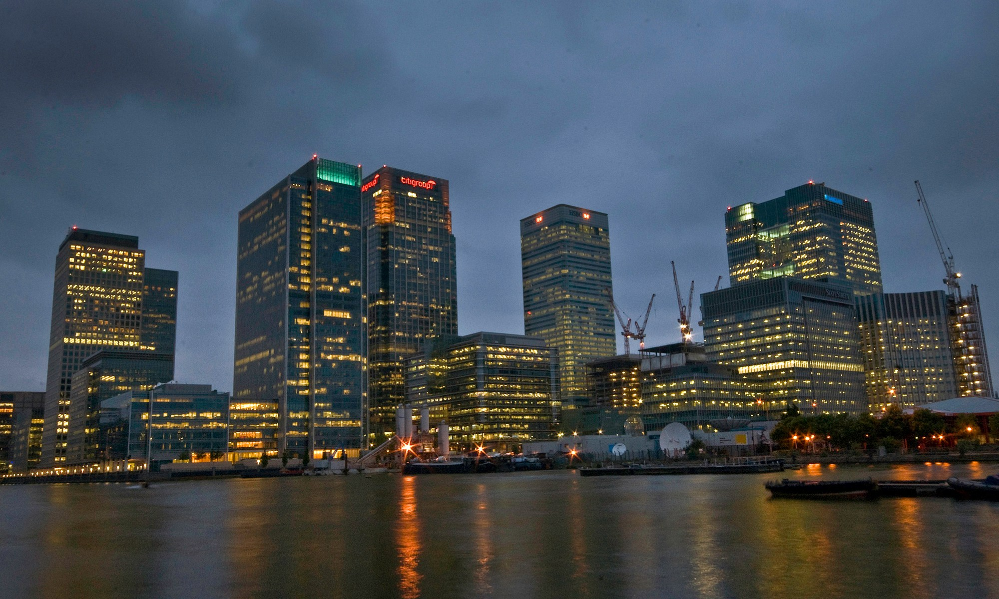 Office Buildings at Canary Wharf, London