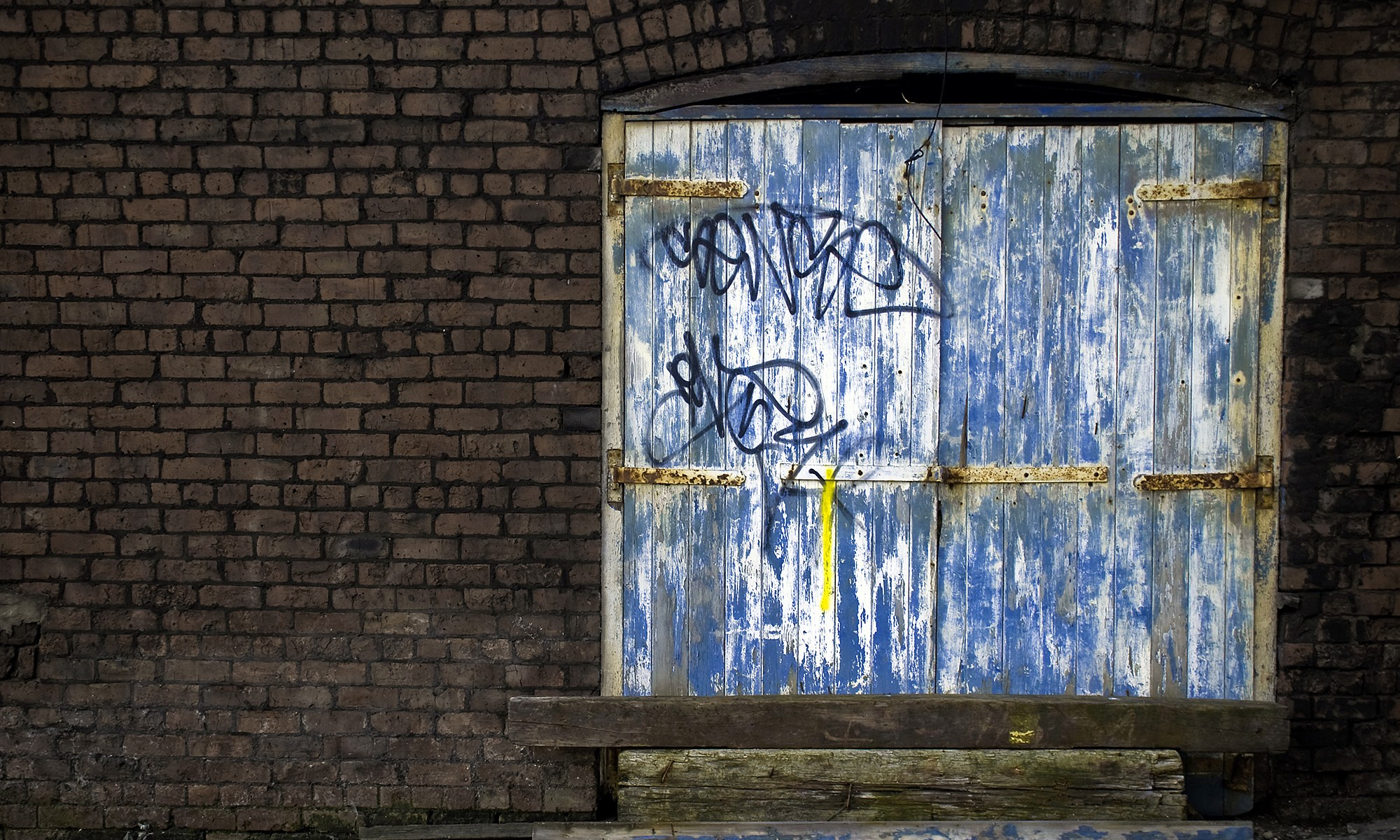 Old Blue Door in Castlefield, Manchester