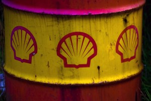 Old Shell Oil Barrel Detail