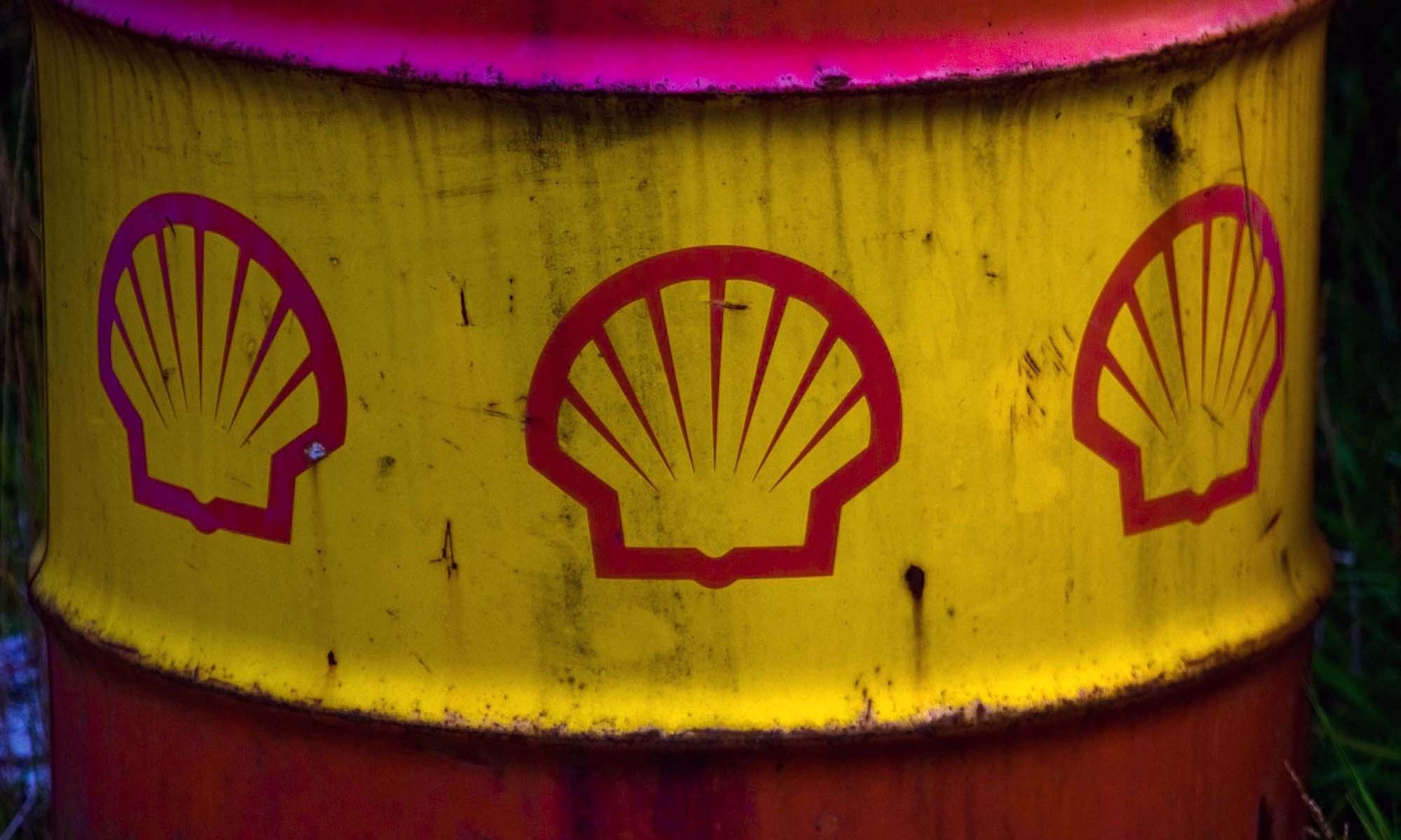 Old Shell Oil Barrel Detail
