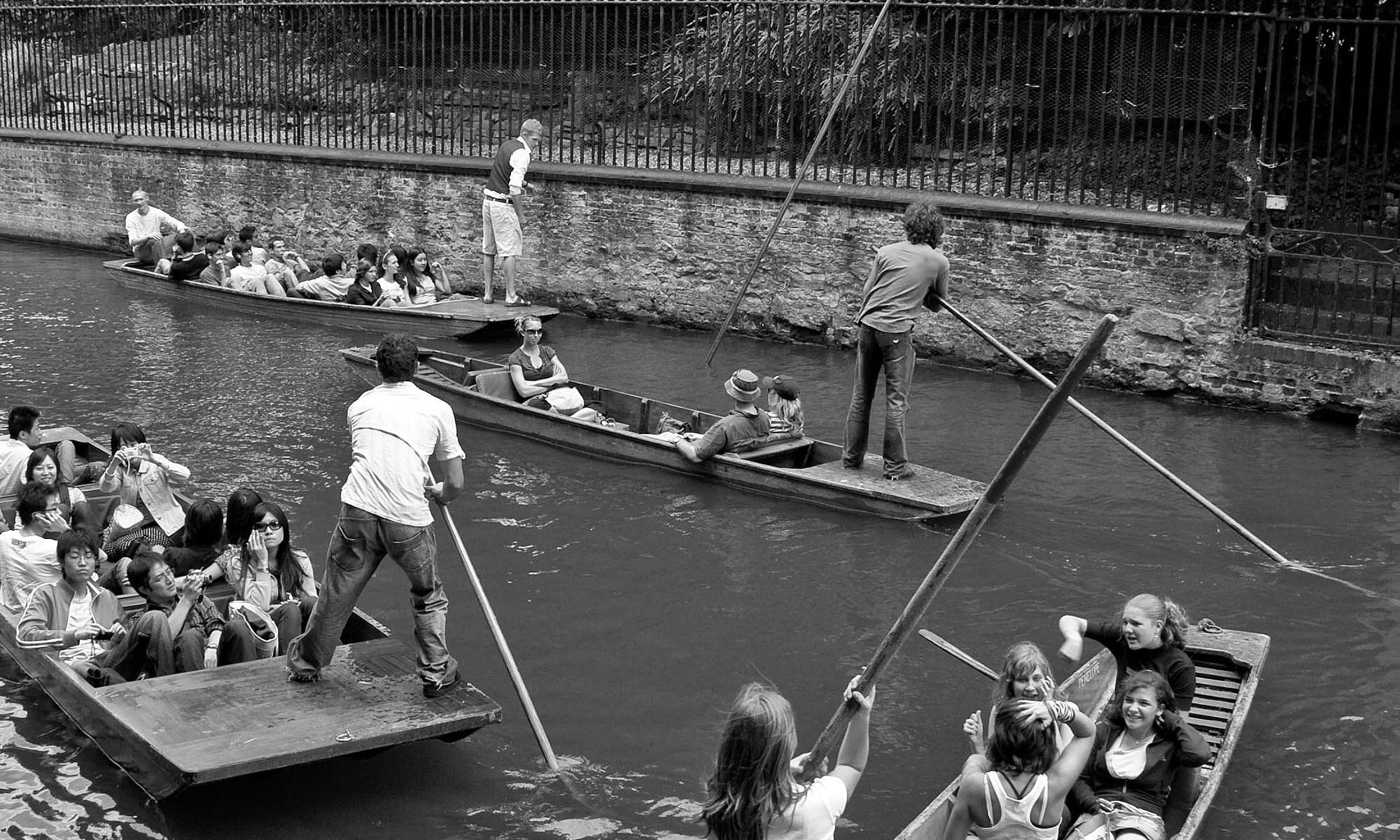 Punting Problems, River Cam, Cambridge