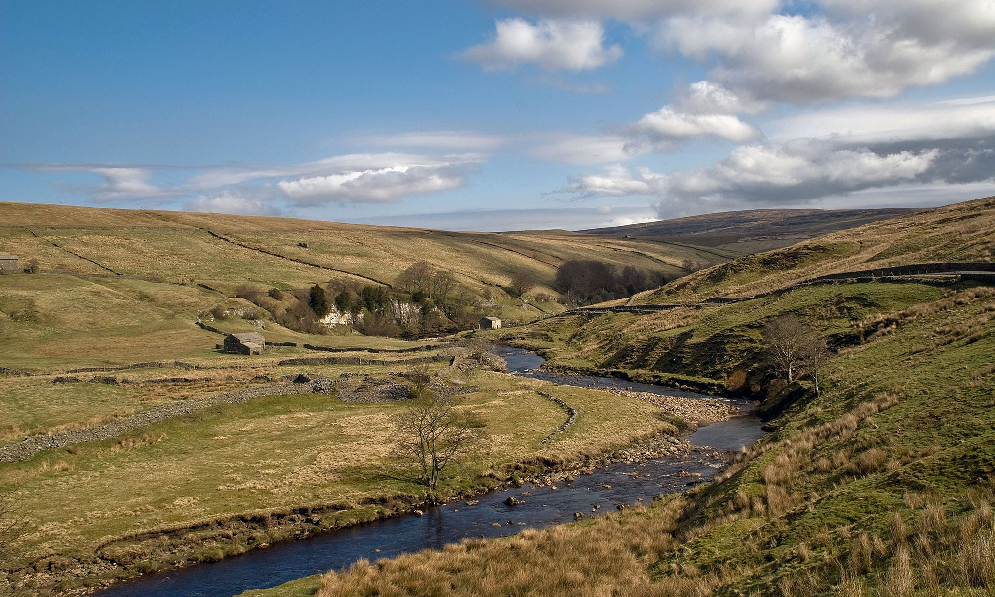 Infant River Swale flowing toward Keld