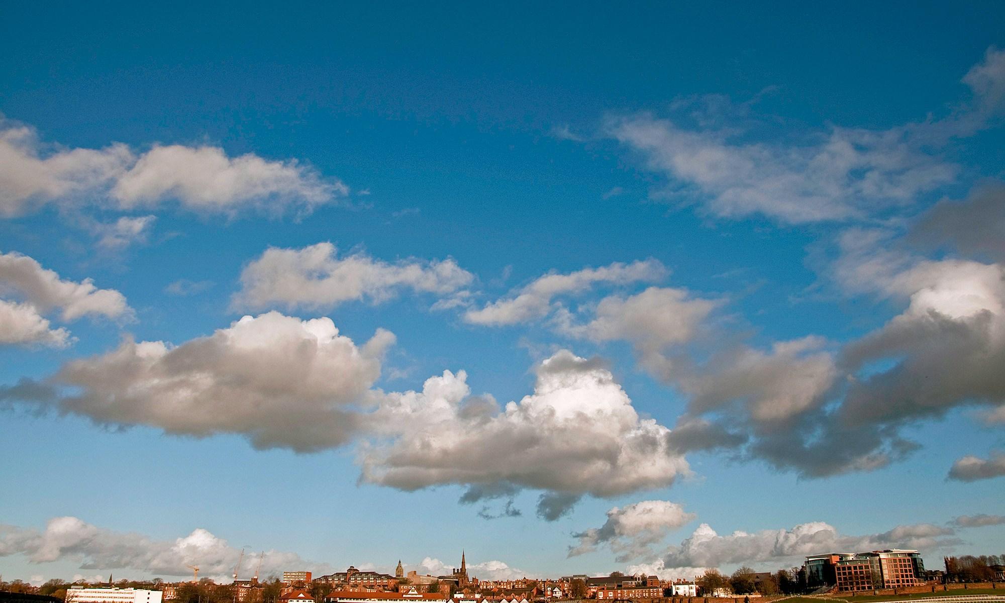 Skyscape over Chester Racecourse