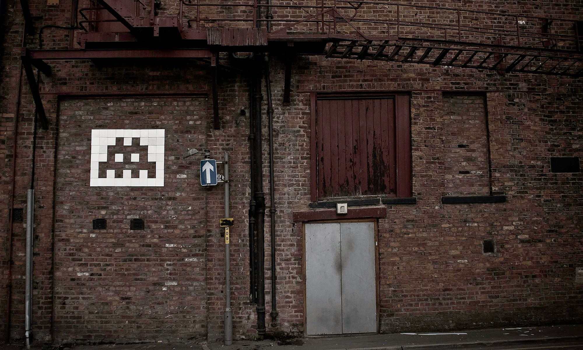 Space Invader Graffiti, Manchester