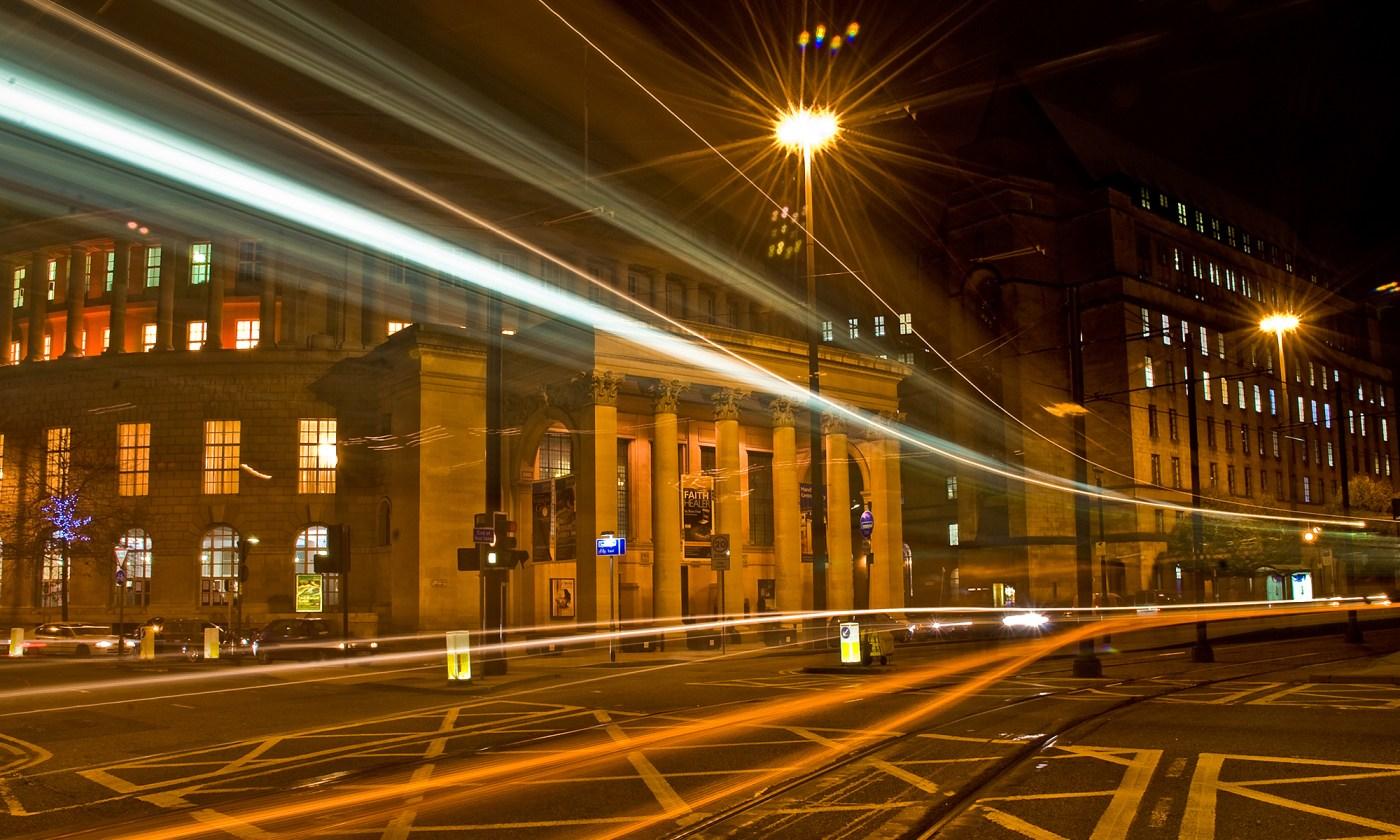 St. Peter's Square Metrolink at Night