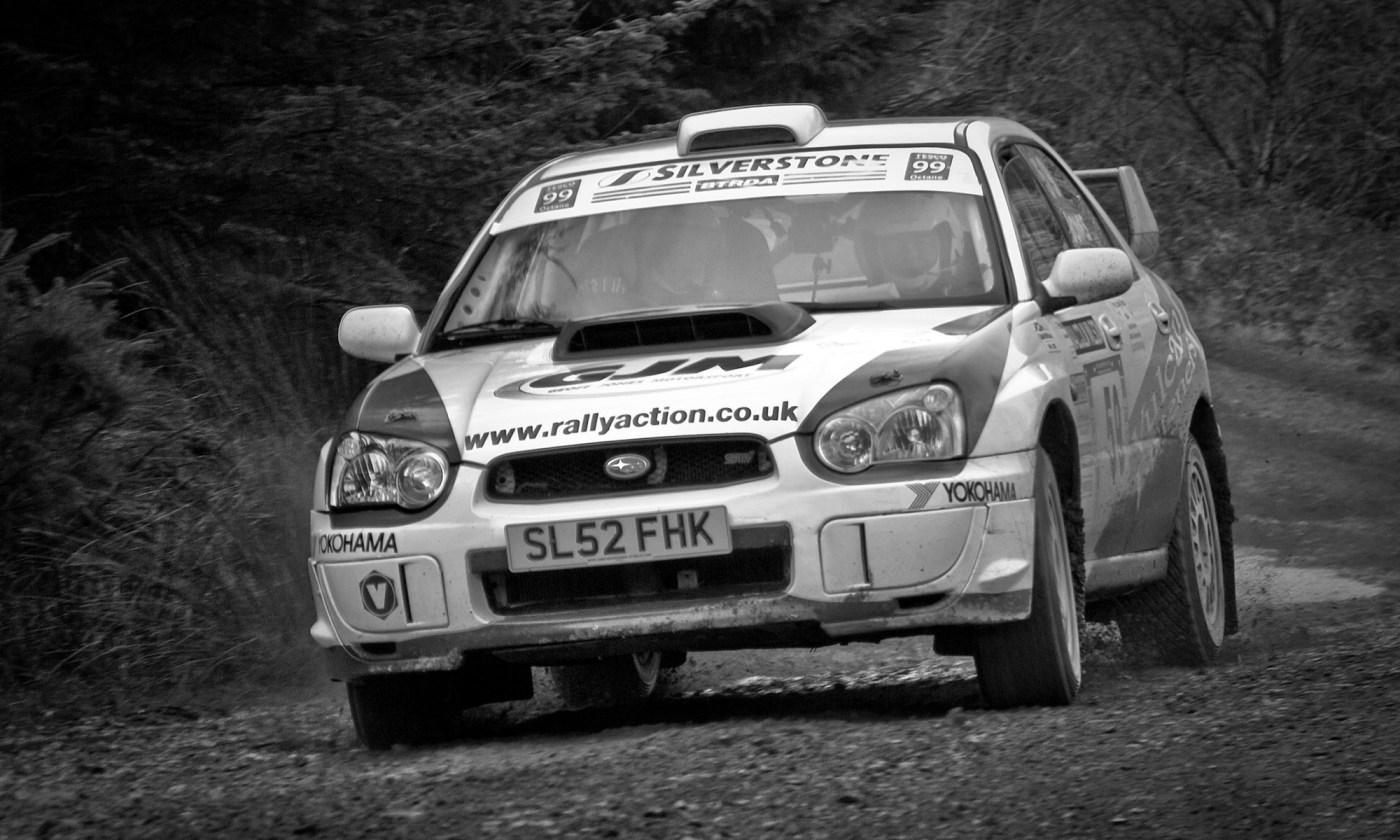 Subaru Rally Car at Malcolm Wilson